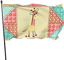 Bandiera del giardino con giraffa carina bandiere