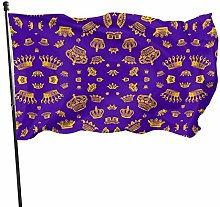 Bandiera del giardino corone viola bandiere di