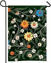 Bandiera del giardino del modello floreale di
