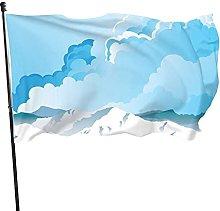 Bandiera del giardino di colline di ghiaccio