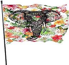 Bandiera del giardino elefante in fiori bandiere