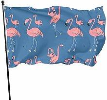 Bandiera del giardino fenicotteri blu bandiere di