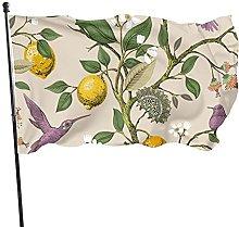 Bandiera del giardino limoni, albero colibrì