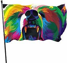 Bandiera del giardino orso tie-dyes bandiere di