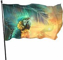 Bandiera del giardino pappagalli accanto al mare