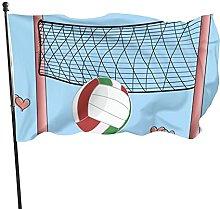 Bandiera del giardino ragazza ama pallavolo