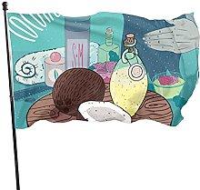 Bandiera del giardino ragazza olio di cocco