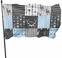 Bandiera del giardino selvaggio cervo blu bandiere
