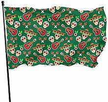 Bandiera del giardino teschi chitarra bandiere di