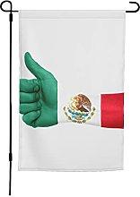 Bandiera del Messico da giardino, 30 x 40 cm,