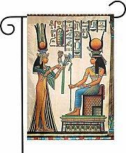 Bandiera egiziana a doppio lato con decorazione