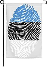 Bandiera Estonia, bandiera del giardino, 30,5 x