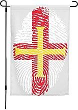 Bandiera Guernsey da giardino, 30 x 40 cm, doppia