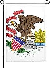 Bandiera Illinois, bandiera da giardino, 30 x 40