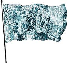 Bandiera in marmo astratto con struttura rocciosa