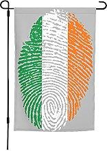 Bandiera Irlanda da giardino, 30 x 40 cm, doppia