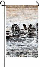 Bandiera, Lettera d'amore Design in legno,