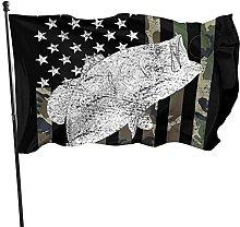 Bandiera mimetica da giardino, 1,5 m x 0,9 m,