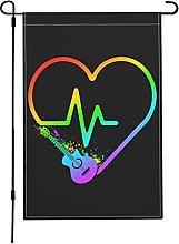 Bandiera per chitarra con battito cardiaco da