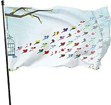 Bandiera per uccelli Bandiera da giardino Bandiera
