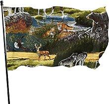 Bandiera rustica da giardino, 1,5 m x 9 m,