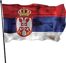 Bandiera serba Bandiera da giardino Bandiera da