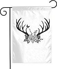 Bandiere da giardino a forma di corna nere per
