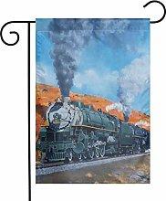 Bandiere da giardino a vapore per treni e