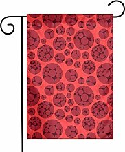 Bandiere da giardino con cerchi rossi per interni