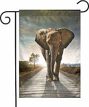 Bandiere da giardino con elefante, per interni ed