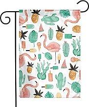 Bandiere da giardino con motivo cactus fenicottero