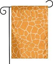 Bandiere da giardino con motivo giraffa arancione