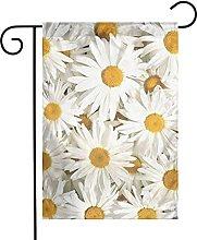 Bandiere da giardino con motivo margherite bianche