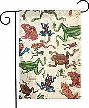 Bandiere da giardino con rana, per interni ed