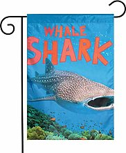 Bandiere da giardino con squalo balena subacquea,