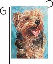 Bandiere da giardino per cani Yorkshire Terrier