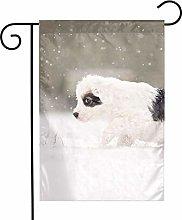 Bandiere da giardino per cuccioli di inverno per