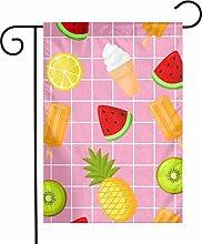 Bandiere da giardino per gelati e frutta per