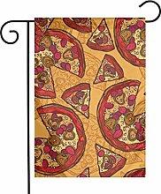 Bandiere gialle da giardino per pizza per interni