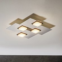 BANKAMP Quadro plafoniera LED 32W argento