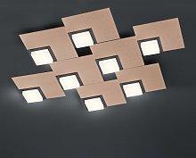 BANKAMP Quadro plafoniera LED 64W, rosé-oro