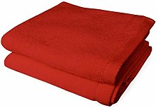 Banzaii 2 Asciugamani 60 x 100 cm Rosso