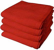 Banzaii 4 Asciugamani 60 x 100 cm Rosso