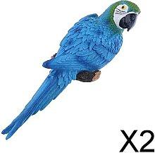 Baoblaze 2X Artificiale Parrocchetto Uccello