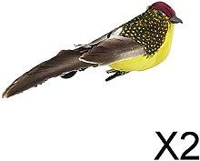 Baoblaze 2X Figure di Uccelli Realistici in