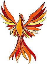 Baoblaze Appeso Phoenix Statua Scultura Animale