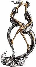 Baoblaze Bacio Coppia di Arte Scultura Amore