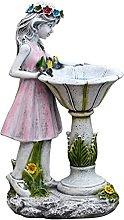 Baoblaze Fairy Girl Giardino Statua, Solare della