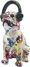 Baoblaze Moderna dipinta Bulldog Figurine Graffiti
