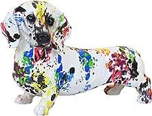 Baoblaze Nordic Colorful Dog Figurine Resina